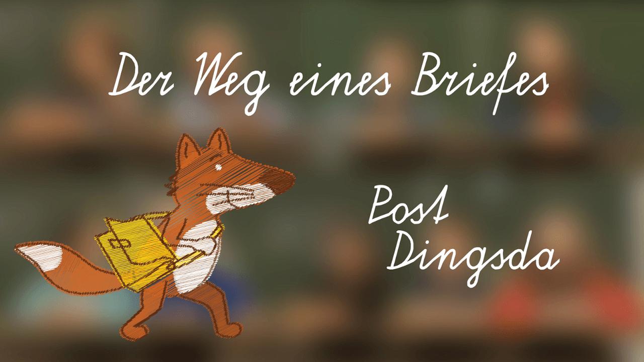 Foto aus dem Film Der Weg eines Briefes – animierter Fuchs - Postfuchs